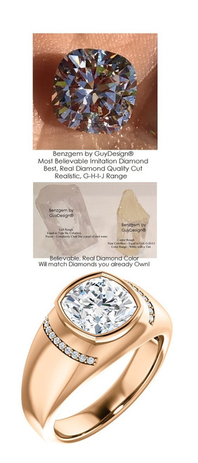 with Benzgem... You will Feel and Experience the Opulence of Wearing a Naturally Mined from the Ground Real Diamond.