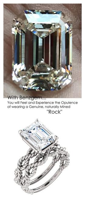Emerald Cut Engagement Rings, White Gold, Wedding Rings, Simulated Diamond, Bill Blass, Wedding Sets, 6765