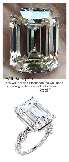 Emerald Cut Engagement Rings, White Gold, Wedding Rings, Simulated Diamond, Bill Blass, Wedding Sets, 6766