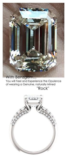 Emerald Cut Engagement Rings, White Gold, Wedding Rings, Simulated Diamond, Diamonds, Wedding Sets, 6811