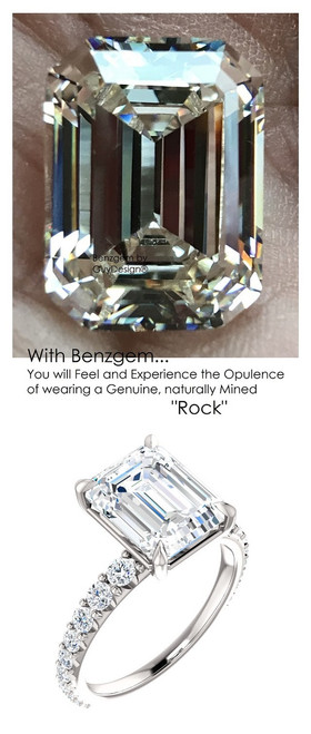 Emerald Cut Engagement Rings, White Gold, Wedding Rings, Simulated Diamond, Diamonds, Wedding Sets, 6843