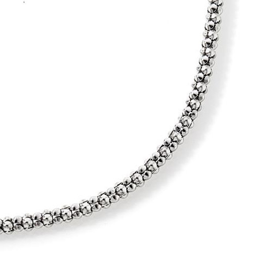 Adjustable White Gold Neck Chain, Pendant Fashion Necklace, 1.4mm Wide x 22 inches Long, Fine Gold Jewelry 6941