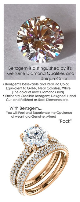 1.91 Micro All Pavé Mined Diamond Engagement Ring by GuyDesign®, 01.91 Ct. Hand Cut Round Shape G-H Color Diamond Quality Benzgem Lab-Created Replica, Custom Jewelry 6955