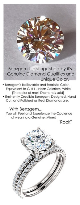 2.00 All G+, VS Diamond, Platinum Engagement Ring by GuyDesign®, 2 Carat H&A Round Benzgem Alternative Solitaire, Custom Jewellery 6992