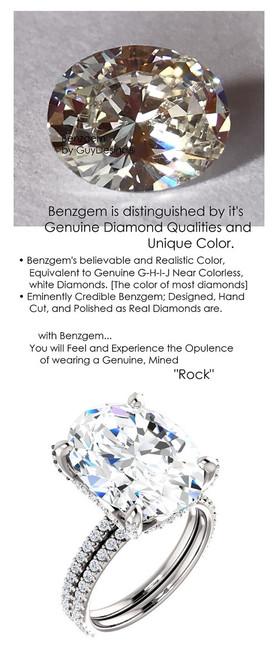 9.00 All G+, VS Diamond, Platinum Engagement Ring by GuyDesign®, 9 Carat Oval Shape Benzgem Best Alternative Solitaire, Custom Jewellery 6998