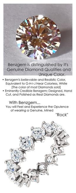 Bespoke Ladies Benzgem G-H-I-J H&A Round Lab-Created Diamond Copies and Platinum Endless Love Eternity Band, Wedding, Anniversary Ring - 3.75 Carats, Custom Jewellery by GuyDesign®, 6710