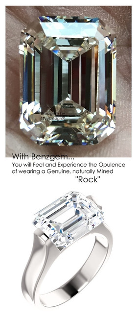 5.50 Ct. Emerald Cut Ladies Modern Ring by GuyDesign® 7013