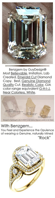 3.95 Ct. Mined Diamond Semi Mount and Gold Ring, Benzgem by GuyDesign® Solitaire Emerald Cut Diamond Copy 7074