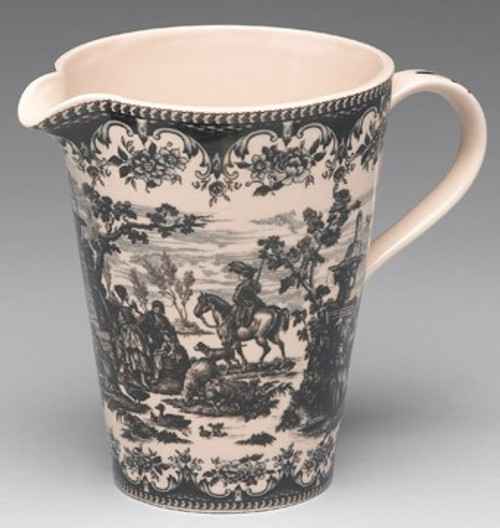 Black and White Pattern - Luxury Reproduction Transferware Porcelain - 9 Inch Measuring Cup