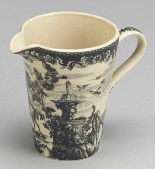 Black and White Pattern - Luxury Reproduction Transferware Porcelain - 5.75 Inch Measuring Cup