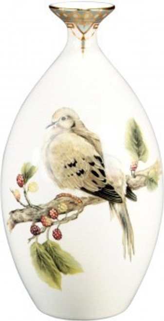 Luxe Life Soothing Nature Pattern - Luxury Hand Painted Porcelain - 13 Inch Vase