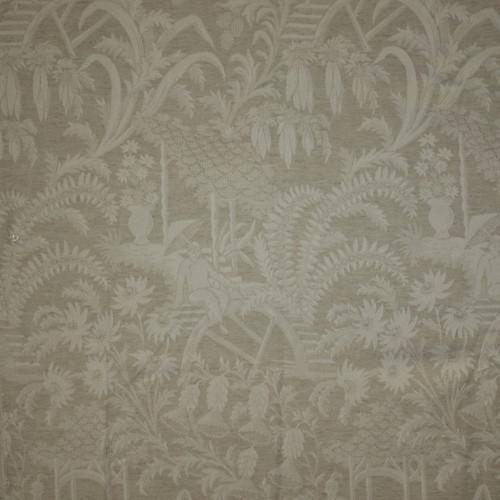 Fine Handcrafted Period - Luxurie Furniture Fabric - 061 Cream Oriental Pattern