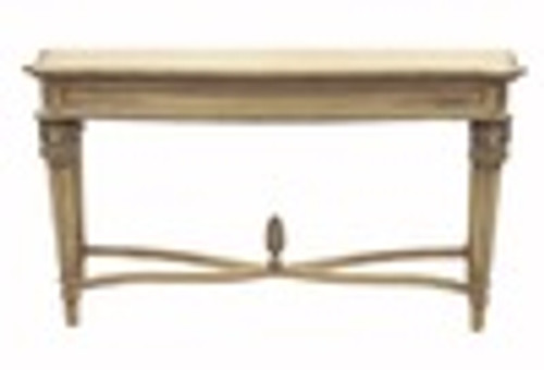 Custom Decorator - Rectangular Hardwood 56 Inch Grand Hall | Console Table - Hand Carved