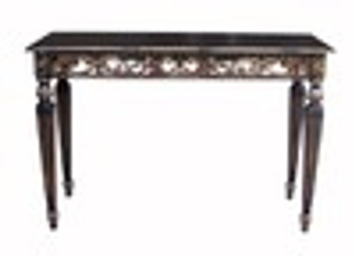 Custom Decorator - Rectangular Hardwood 51 Inch Grand Hall | Console Table - Hand Carved