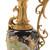 ***Lyvrich d'Elegance, Porcelain and Gilded Dior Ormolu | Victor Hugo's Summer Courtship, Bleu foncé et doré | Versailles Pitcher | Trophy Vase | Centerpiece | 30.14t X 10.05w X 8.08d | 6310