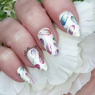 Feather nail foil blog by Tracey Bellew