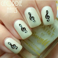 Music note nail decal blog by Geordie Nails