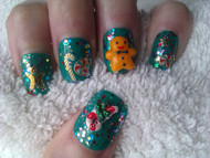 Gingerbread man nail art design blog