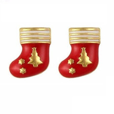 Red Christmas stocking nail art charms