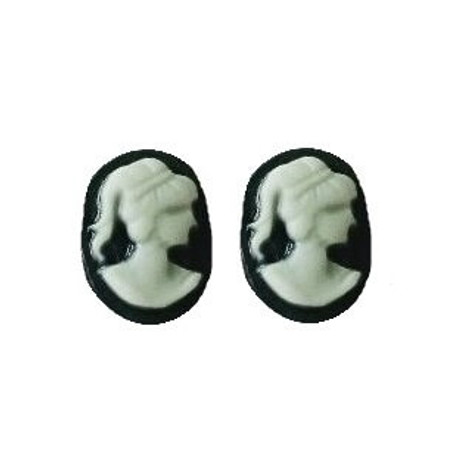 3D nail art cameo charms
