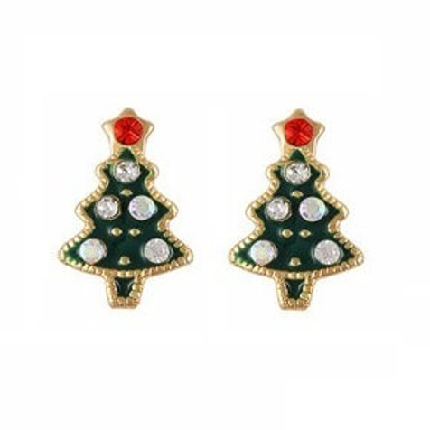 Christmas tree nail charms