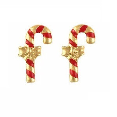 candy cane nail charms