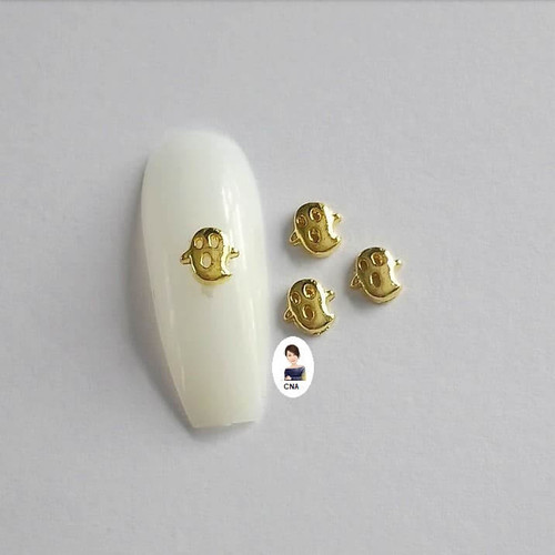 Golden ghosts 3d nail art charms