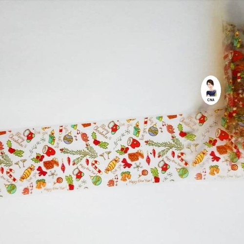 Sugar and spice Christmas nail transfer foil