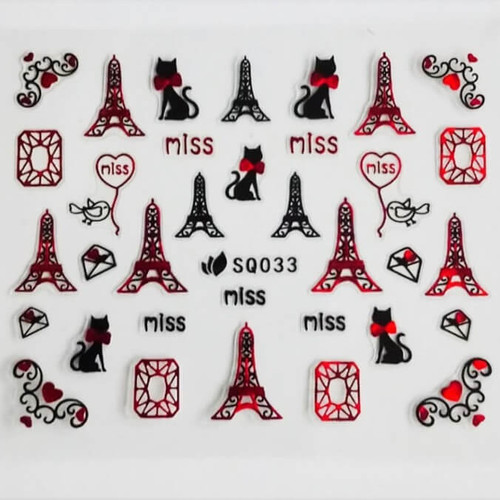 From Paris with love nail art stickers