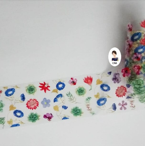 Blooming marvelous floral nail art foil