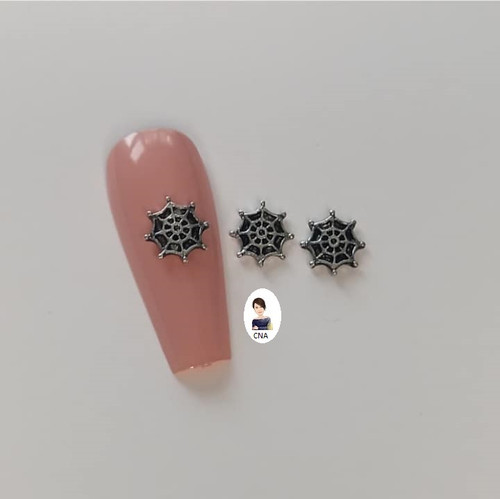 Spider web 3D nail art charms