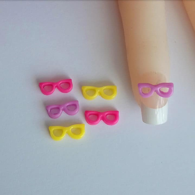 3D Nail art glasses charms