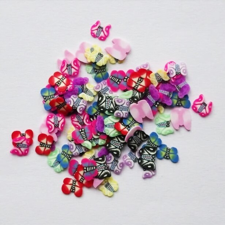 Butterfly fimo nail art slices