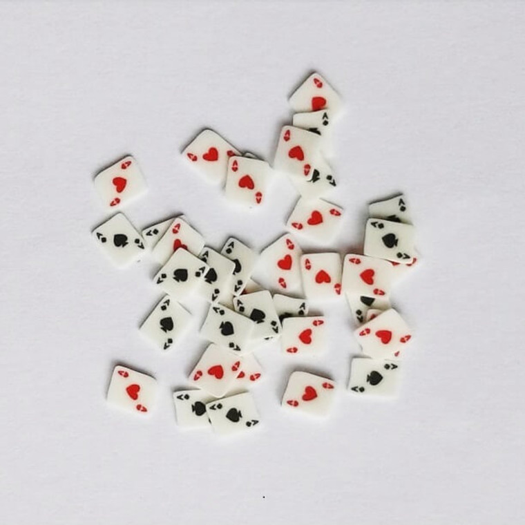 Playing card ace fimo nail art slices
