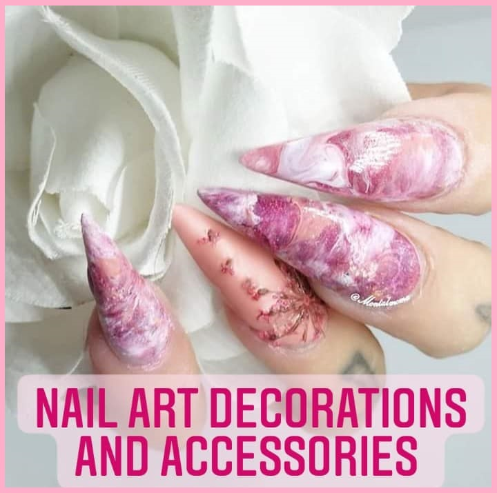 Nail art glitter mixes
