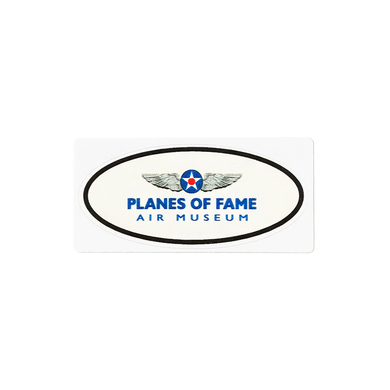 OVAL PLANES OF FAME STICKER SMALL