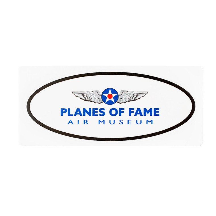 OVAL PLANES OF FAME STICKER LRG
