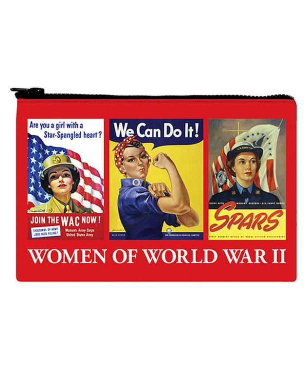 WOMEN OF WWII ZIP POUCH