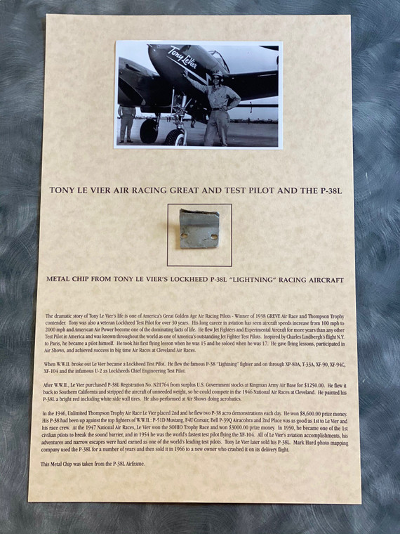 piece of Tony Le Vier's P-38 Lightening.