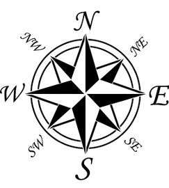 Compass Rose with Directionals