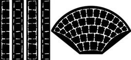 Cobblestone Fan Set - Small