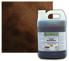 Reactive Acid Chemical (RAC) Concrete Stain - Black Walnut 1 Gal.