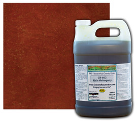 Reactive Acid Chemical (RAC) Concrete Stain - Rich Mahogany 1 Gal.