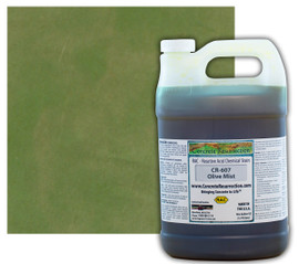 Reactive Acid Chemical (RAC) Concrete Stain - Olive Mist (Interior Only) 1 Gal.