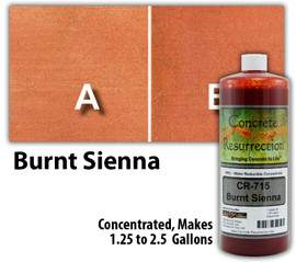 Water Reducible Concentrated (WRC) Concrete Stain - Burnt Sienna 32oz
