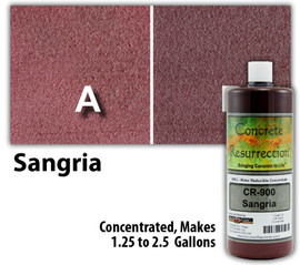 Water Reducible Concentrated (WRC) Concrete Stain - Sangria 32oz