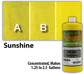 Water Reducible Concentrated (WRC) Concrete Stain - Sunshine 32oz