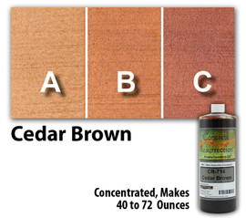 Water Reducible Concentrated (WRC) Concrete Stain - Cedar Brown 8oz