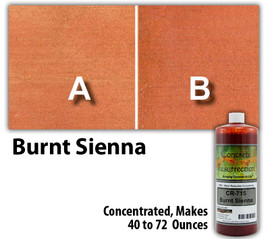 Water Reducible Concentrated (WRC) Concrete Stain - Burnt Sienna 8oz