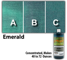 Water Reducible Concentrated (WRC) Concrete Stain - Emerald 8oz